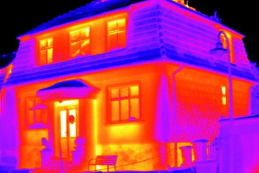 Energy One America Thermal Image House